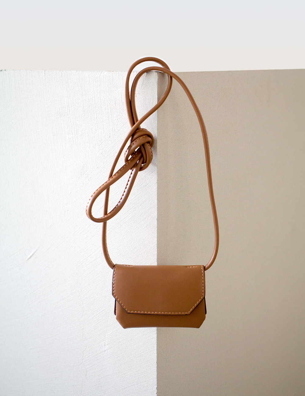 MAISON246,246 KOE WALLET BAG - TAN,No.246
