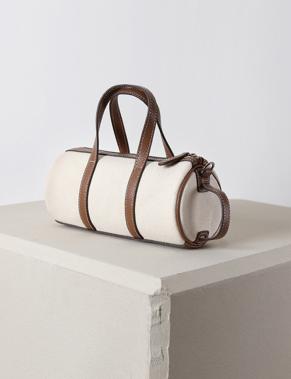 MAISON246,246 BARREL CANVAS BAG - TAN,No.246